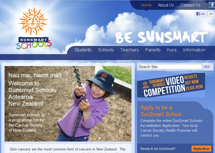 SunSmartSchools.co.nz Website